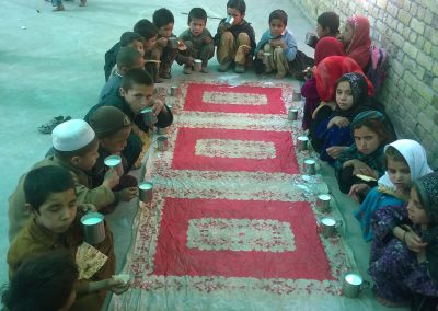 PIC 3 milk & snacks provided to kids in DIC