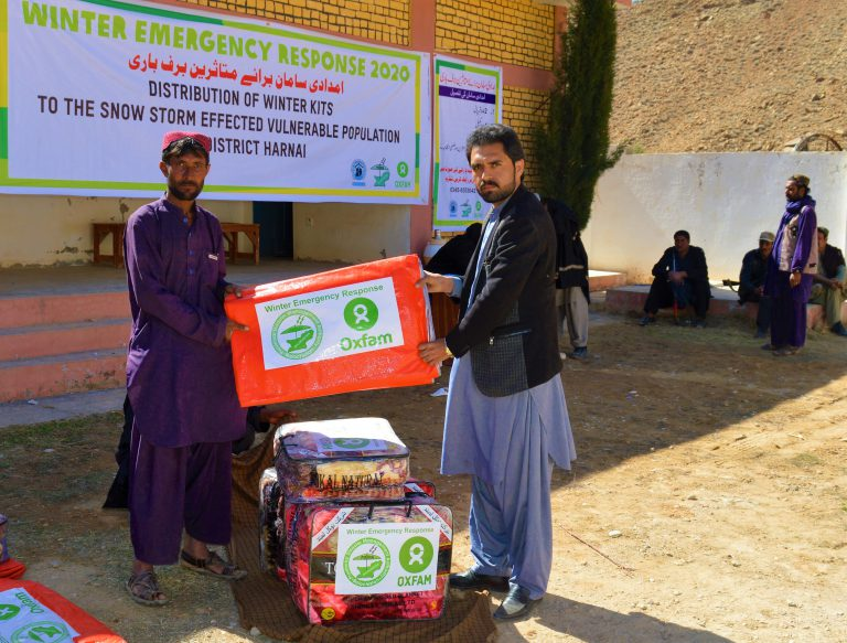 Emergency Response for Snowstorm Affected Communities in Balochistan